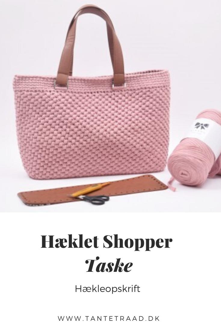 Hæklet shopper Taske i 2020 | Hæklet håndtaske