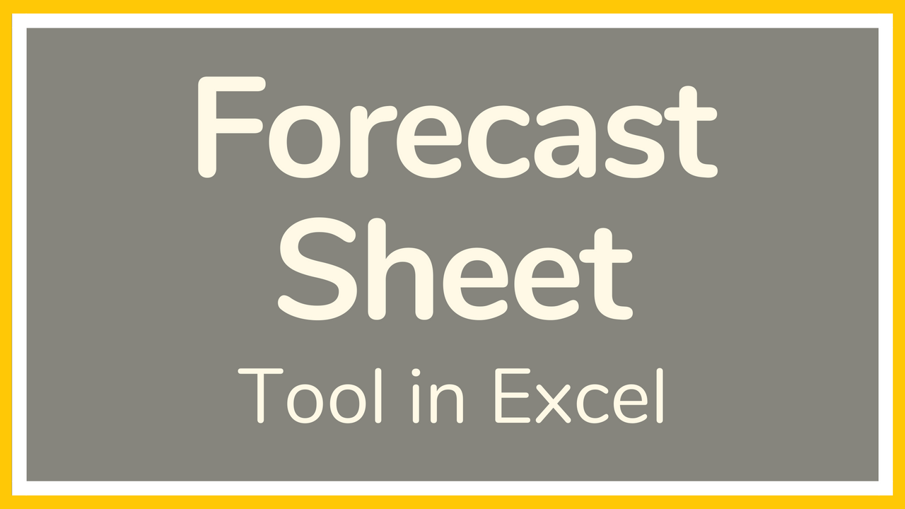 excel tutorial on how to use the forecast sheet in excel the forecast sheet button