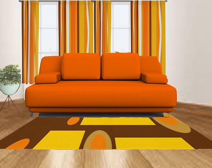 Rug Retro Area Rug Mid Century Modern Area Home Decor ...
