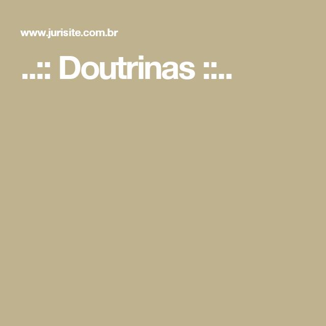 ..:: Doutrinas ::..