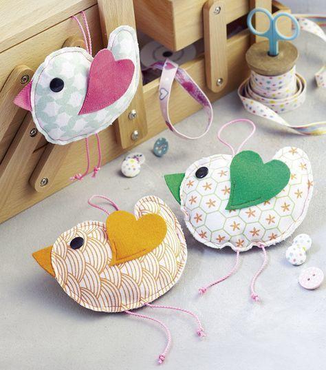 Nähanweisungen für dekorative Vögel mit Schnittmuster – Nähanweisungen bei Makerist   – Ostern