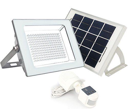 2000 Lumen Microsolar 180 Led Solar Security Light Lithium Battery Digitally Adjust Time Lux By B Solar Security Light Motion Sensor Lights Security Lights