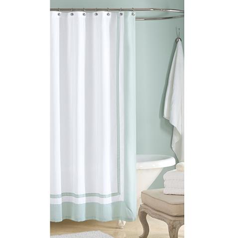 Wamsutta Hotel Shower Curtain In Aqua Hotel Shower Curtain