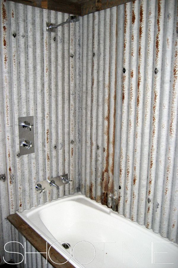 Rusted Corrugated Iron Bathroom Jpg 600 215 900 Tin Shower