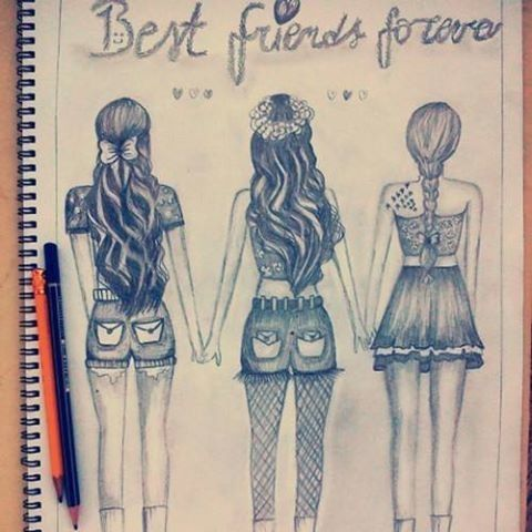 30+ Trends Ideas Easy Broken Friendship Easy Cute 3 Bff Drawings