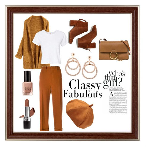"""Fall look #1"" by vera-xiv ❤ liked on Polyvore featuring RE/DONE, Chloé, Avon, Bobbi Brown Cosmetics and Madewell"