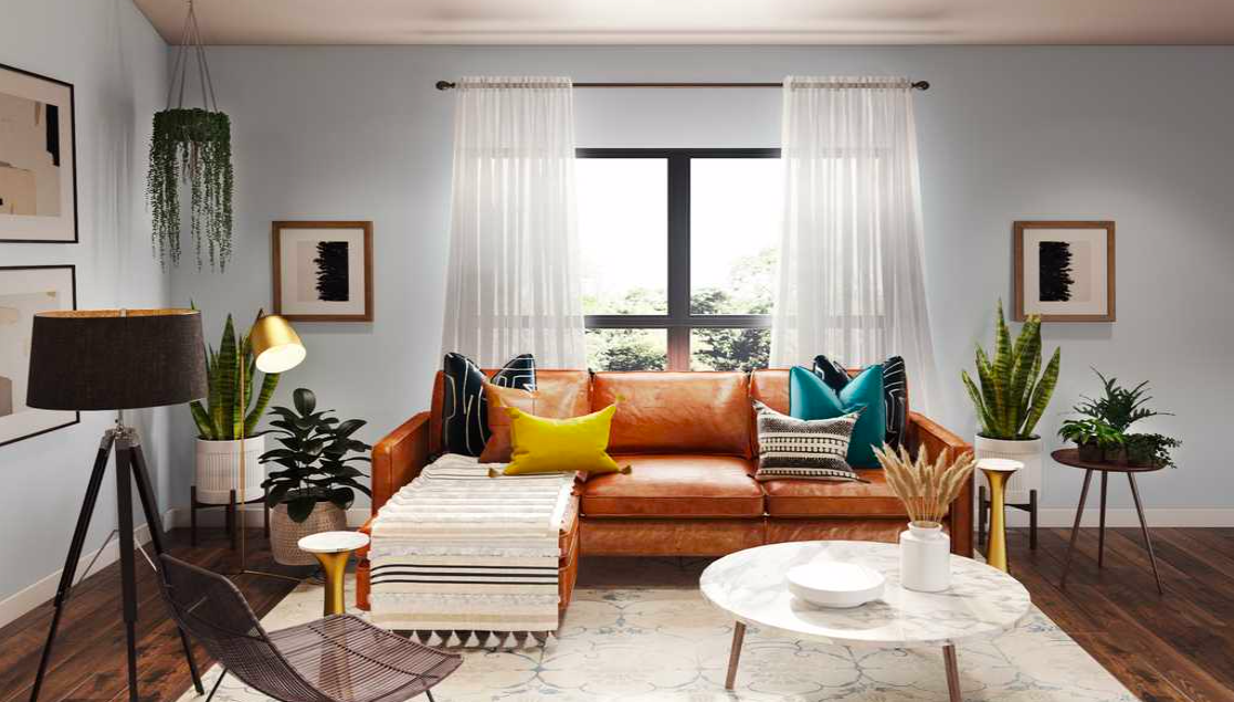 Mid Century Modern Living Room Mid Century Modern Living Room Warm Yellow Living Room Modern Room Design