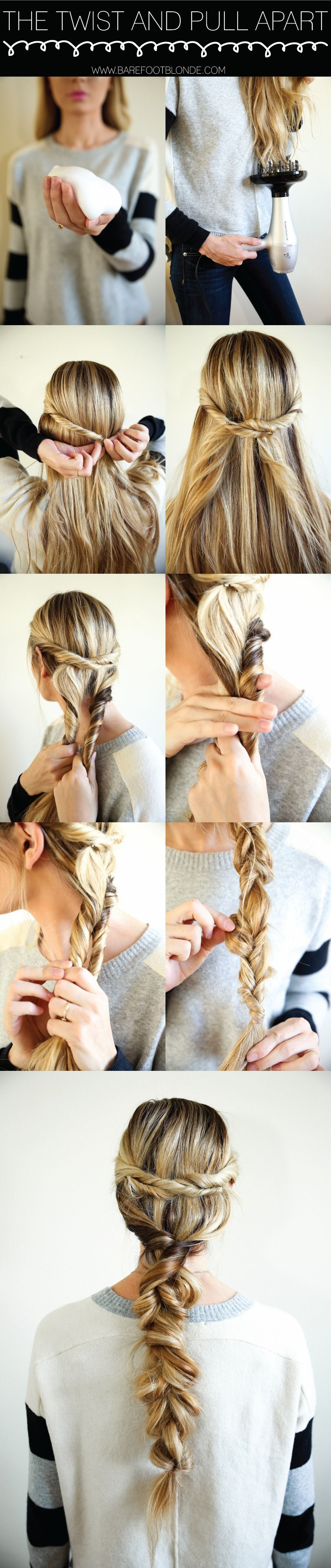The twist u pull apart hair do such a cute easy hairstyle for