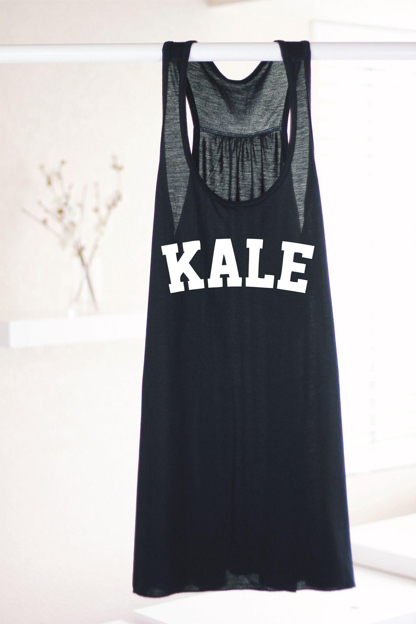 KALE TANK - BLACK RACERBACK
