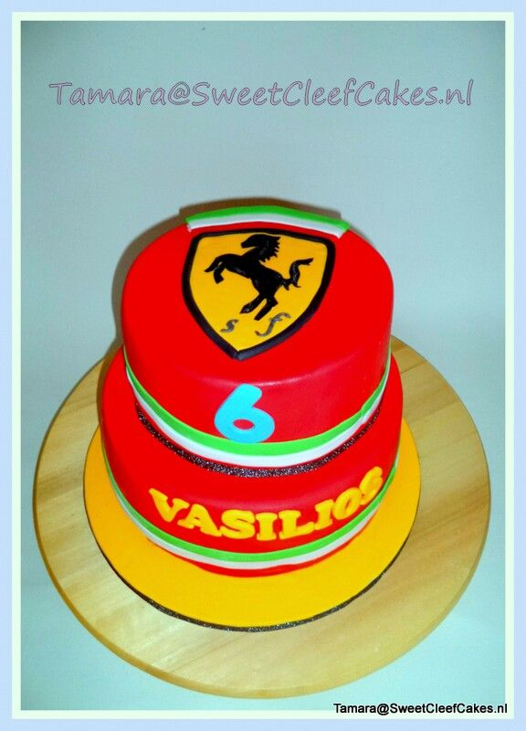 Ferarri cake for birthday