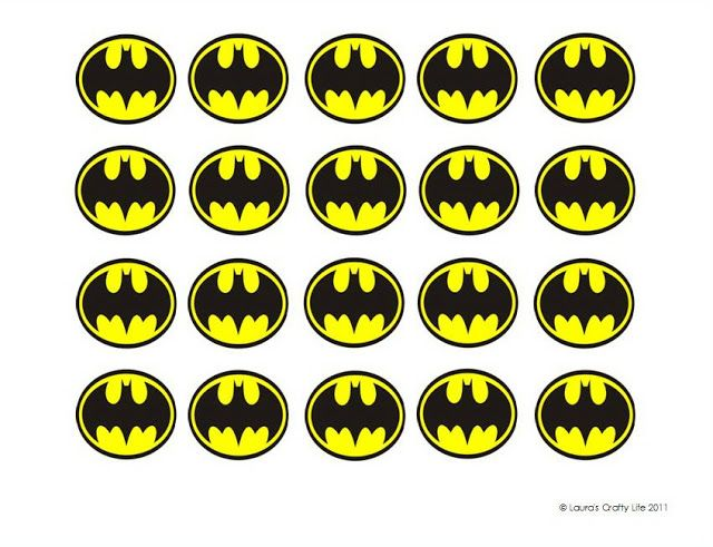 It's just a photo of Batman Cupcake Toppers Printable in comic superhero pennant party