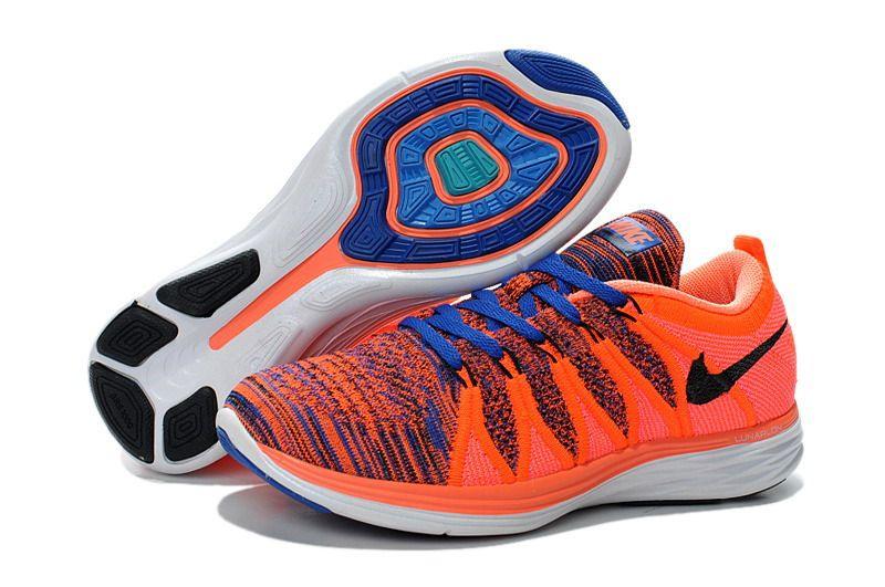 Nike Lunar 2 Flyknit für Damen Blau Orange | Nike air jordan