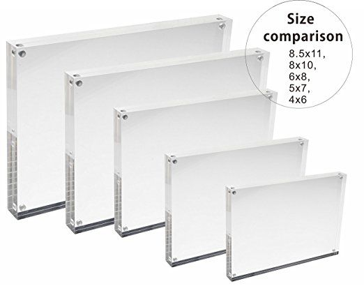 Amazon.com - Cq acrylic 3pack 4x6 Acrylic Frame, Magnetic Picture ...