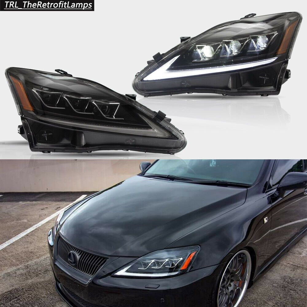 Ad Ebay Led Projector Headlights For Lexus Is250 Is350 Isf 2006 12 Lamps Amber Side Lexus Lexus Is250 Led Projector