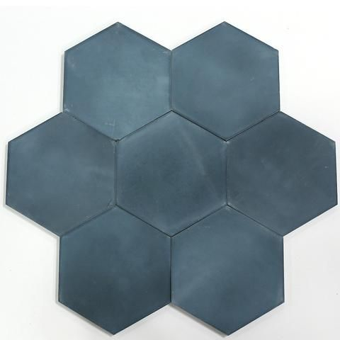Solid Federal Blue House Tiles House Flooring Cement Tiles Kitchen