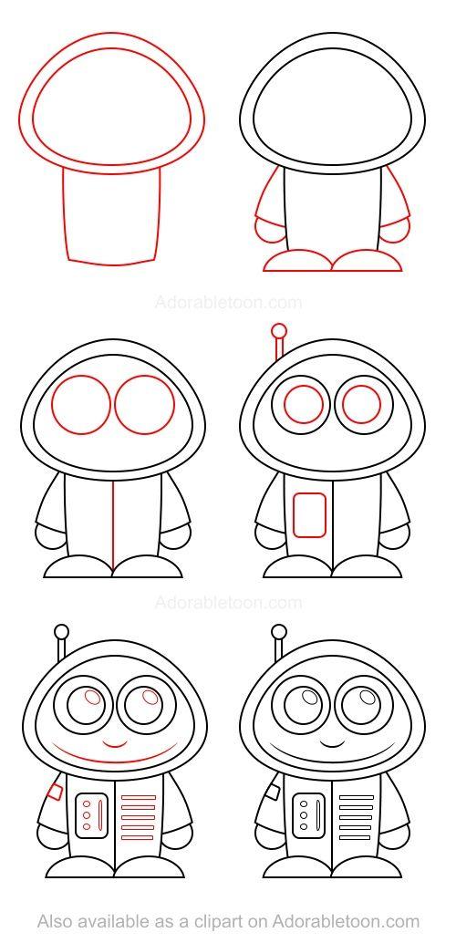 Comment dessiner un astronaute apprendre a dessiner pinterest dessin dessins faciles et - Dessin d astronaute ...