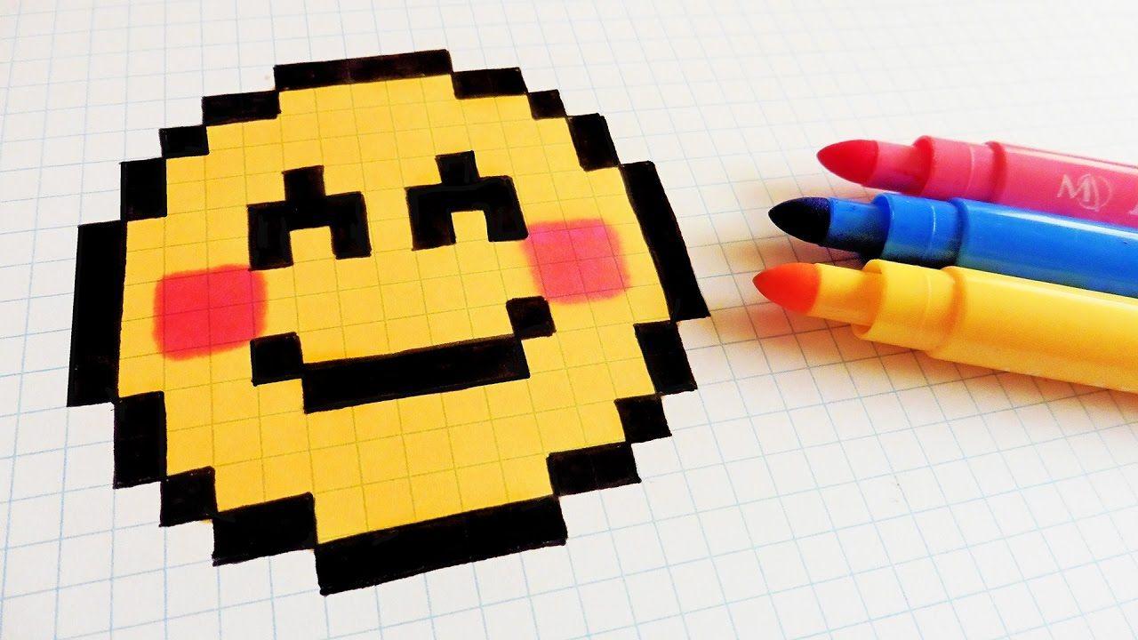Handmade Pixel Art How To Draw A Emoji pixelart Hello