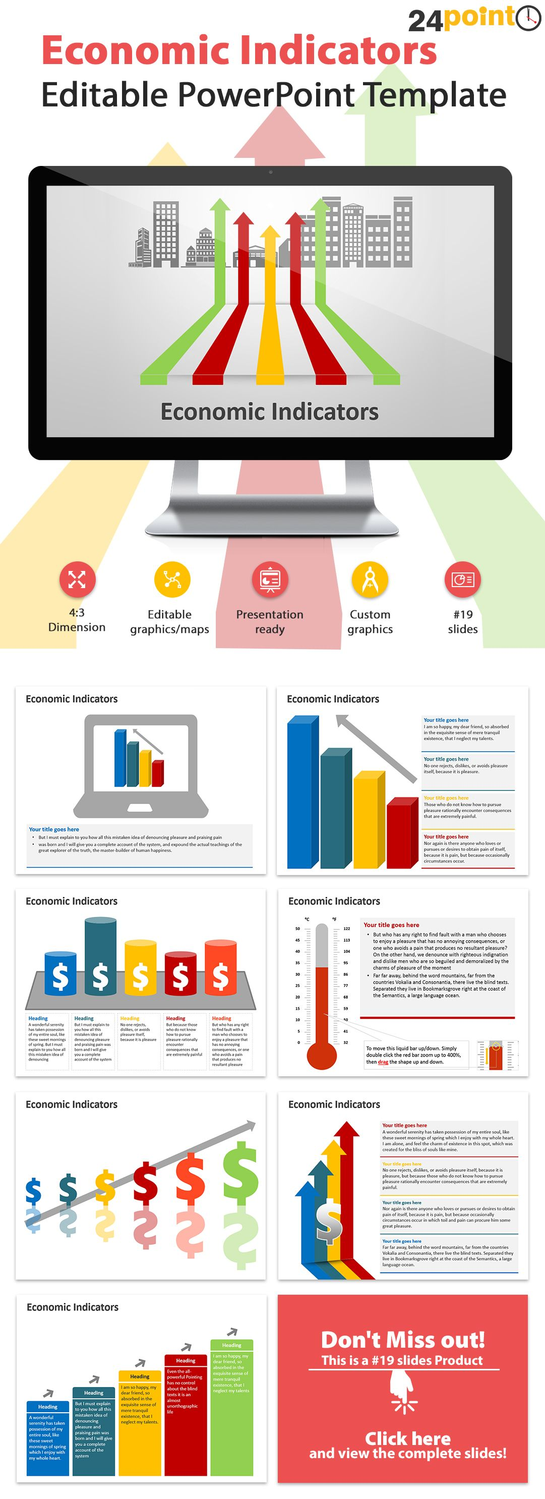Economic Indicators Powerpoint Template  Use The Economic