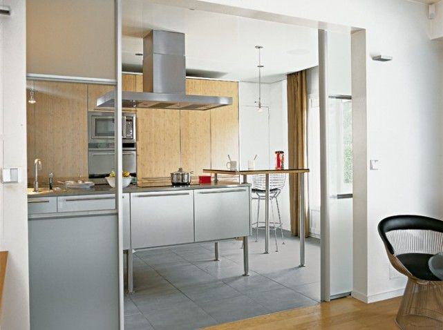 Une transition idéale entre la cuisine et le salon   Cuisine ...