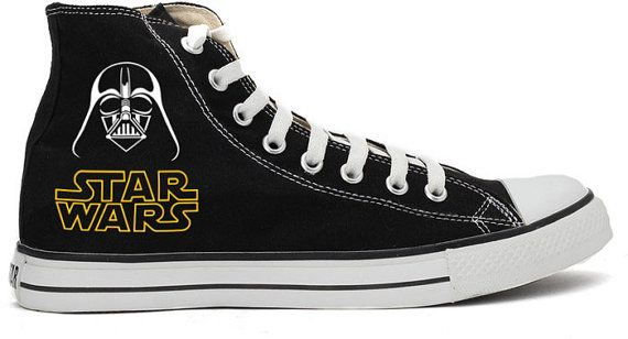 8517eab9915e19 Star Wars Darth Vader Converse Shoes by RahulMistry on Etsy