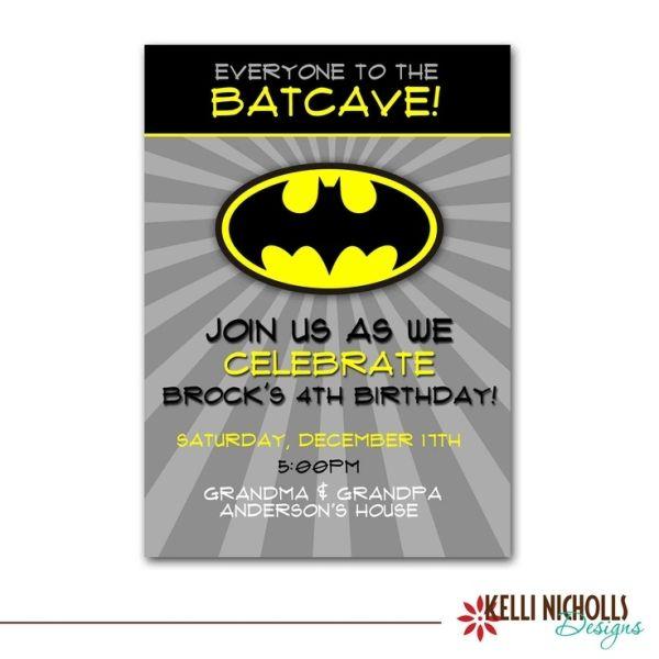 Batman Birthday Party Invitation Wording By Marci Batman