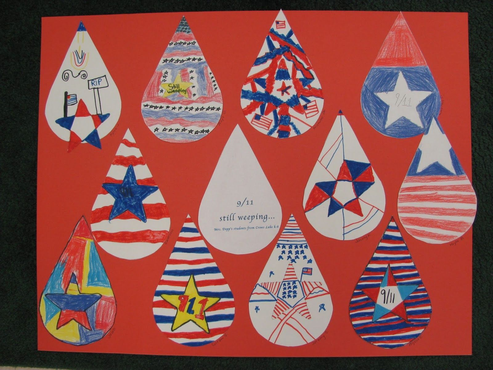 Primarily Art with Mrs. Depp: Remembering 9-11 Sims Park