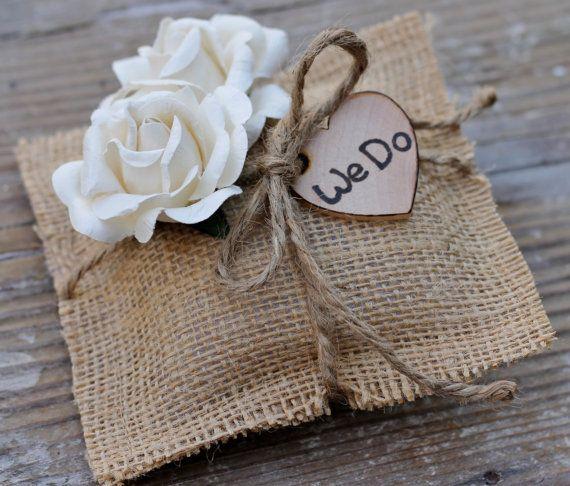 Wedding Ring Pillow Rustic Wedding Rustic Ring Wedding Pillow Cream