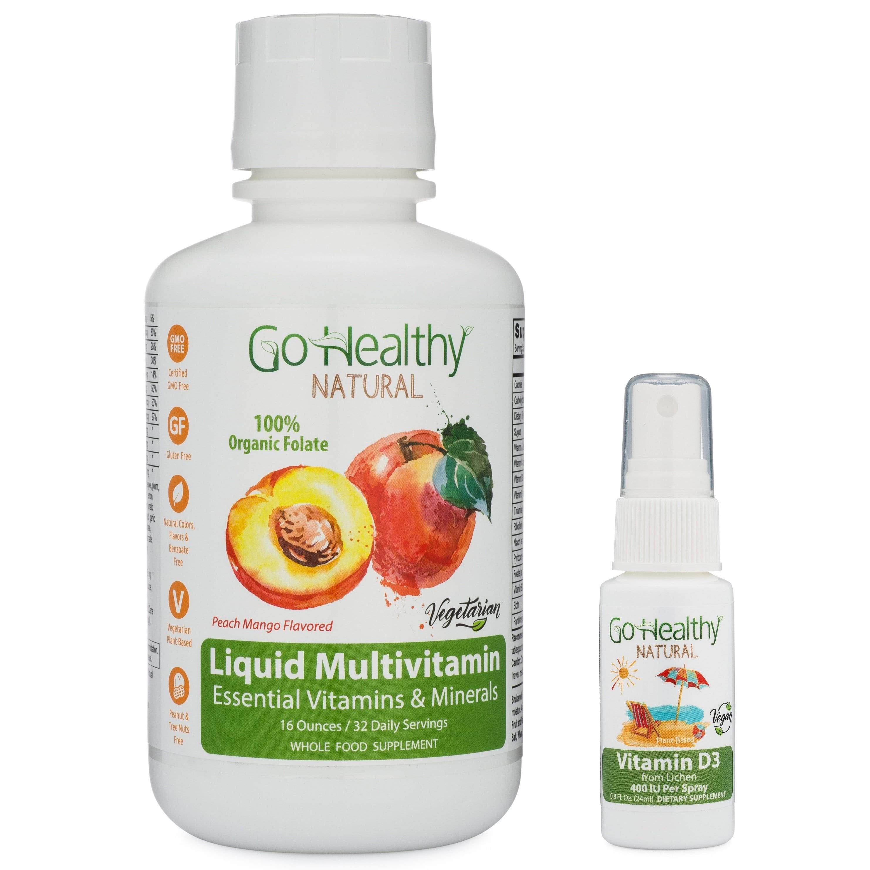 Multivitamin Liquid w/ Organic Lemon Peel Folate + Vitamin