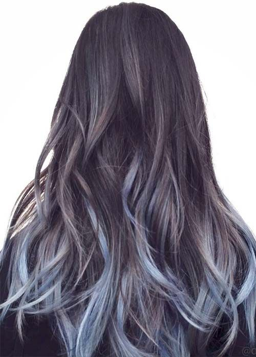 50 Magically Blue Denim Hair Colors You Will Love Denim Hair Blue