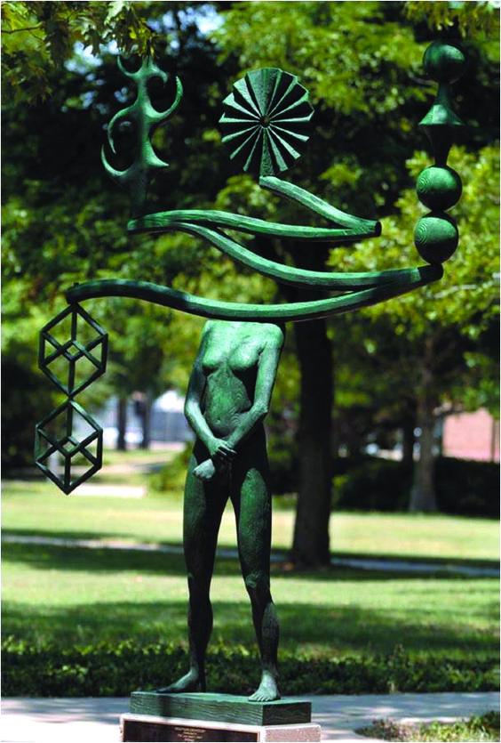 The Way West-John Buck-Bronze-Gordon Hall, Texas Tech ...