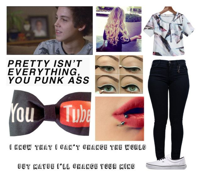 """""""Catch Fire"""" by sarastyles0617 ❤ liked on Polyvore featuring Armani Jeans and Vans"""