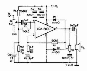 tda2030 esq power amplifier Circuits Automotive auto Audio