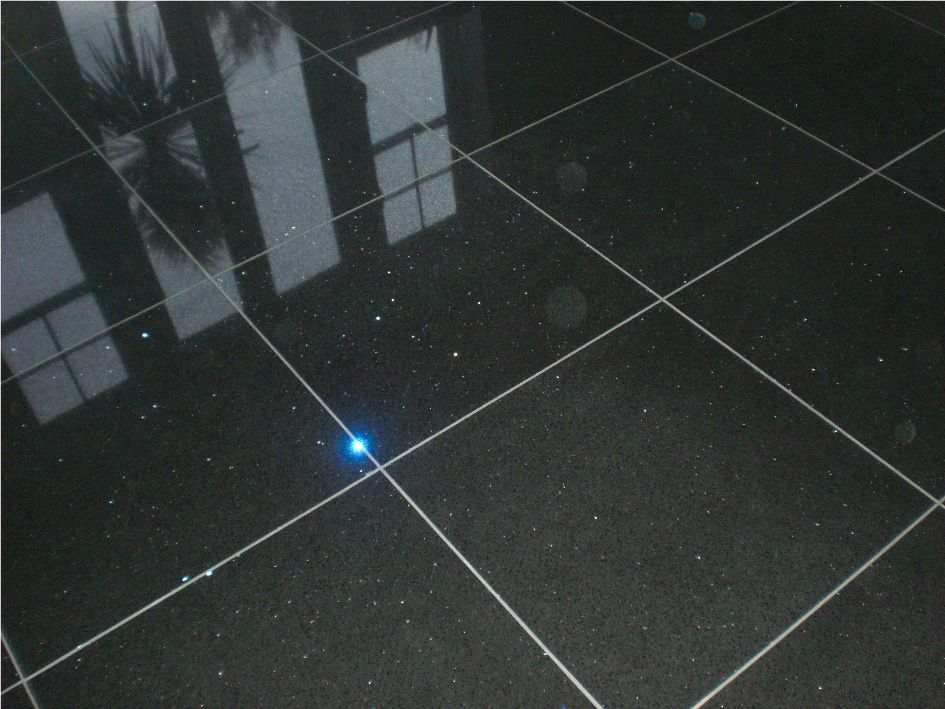 We Love The Effect That These Black Glitter Quartz Tiles Create