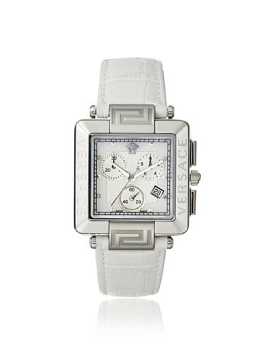 60% OFF Versace Women\'s 88C99SD497 S001 Reve Carrè White Leather Watch