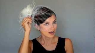 8a29e7aab7bcd Wear Birdcage Veil WITH FASCINATOR