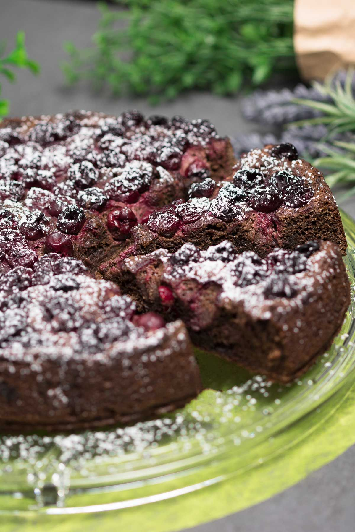 Photo of Low carb chocolate cherry cake