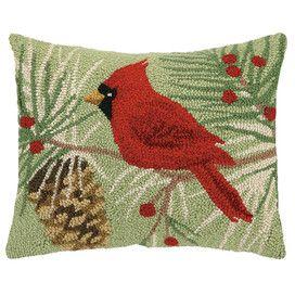 Winter Bird Pillow
