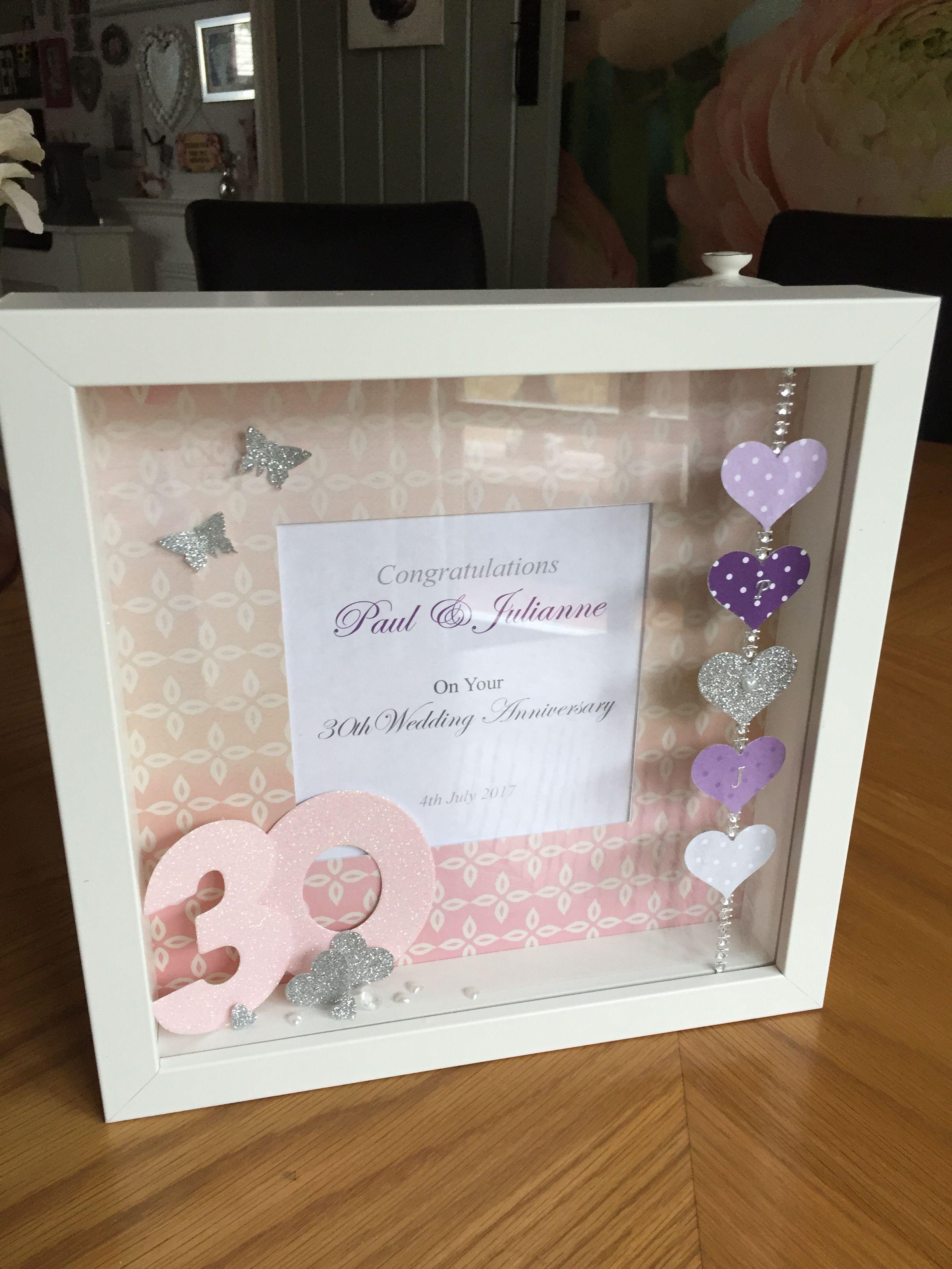 30th anniversary box frame | Jac Design | Pinterest | Bilderrahmen ...