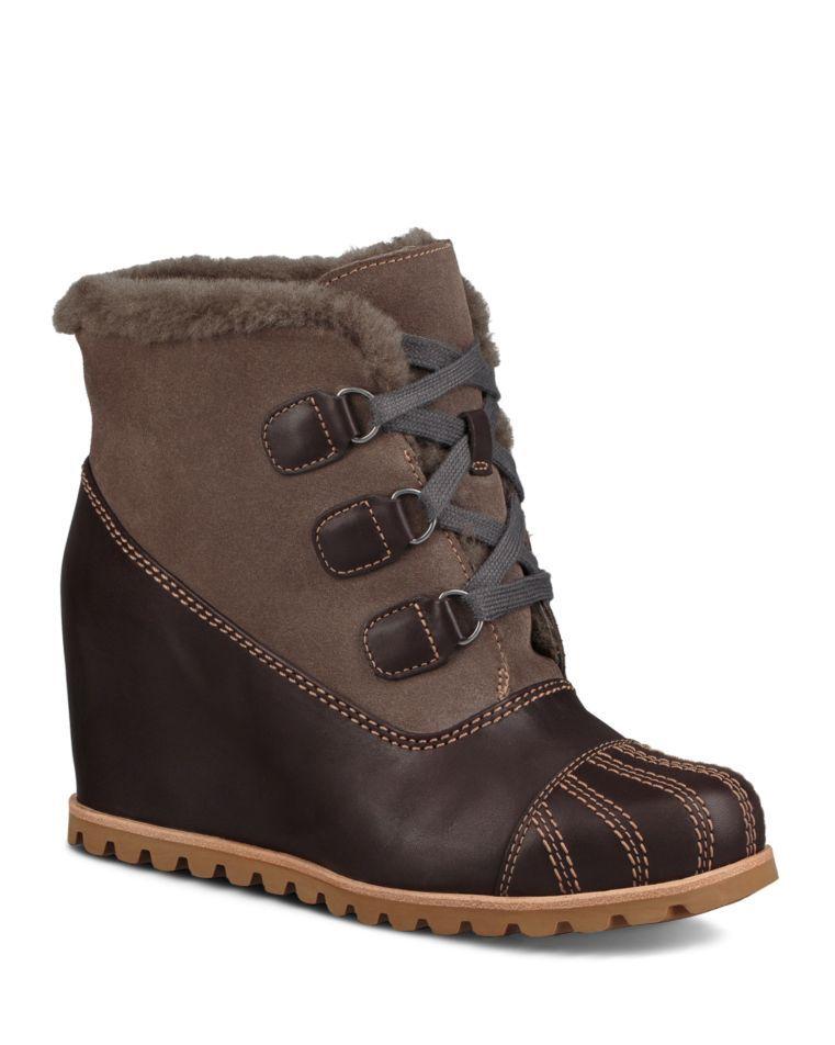 7bf57be677d UGG® Women's Alasdair Waterproof Leather, Suede & Sheepskin Wedge ...