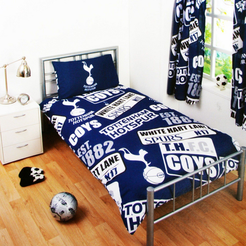 Childrens Football Bedroom Ideas: Tottenham Hotspur Fc Single Duvet Quilt Cover Set Boys