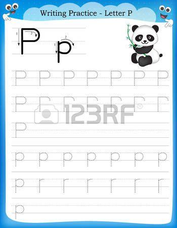 Escribiendo la pr ctica letra P hoja de trabajo imprimible con im ...