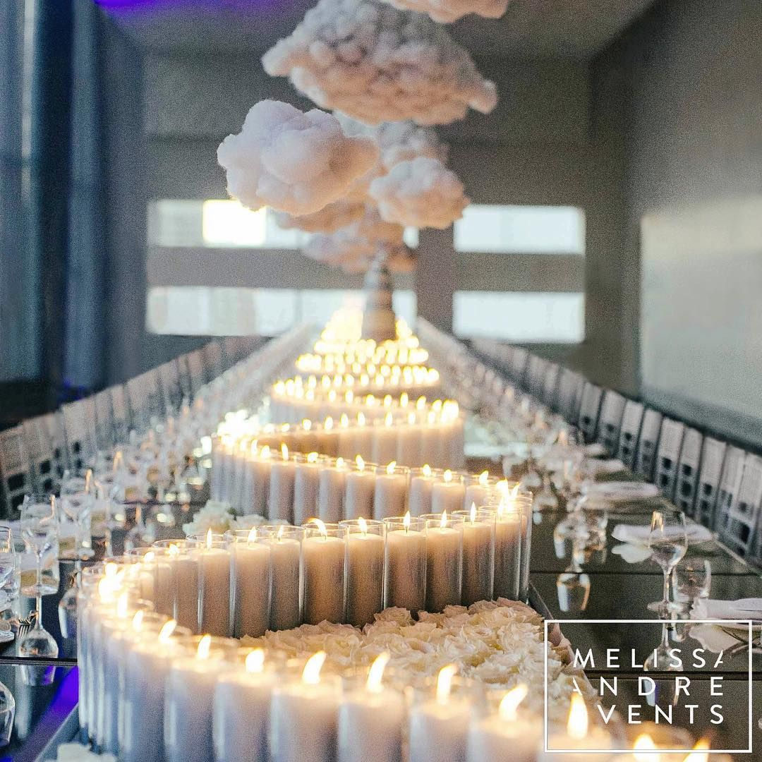 Wedding Venues Near Me Cheap: The Swirling Candles On This White Wedding Tablescape Are