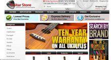 Guitar Website Design #eCommerce