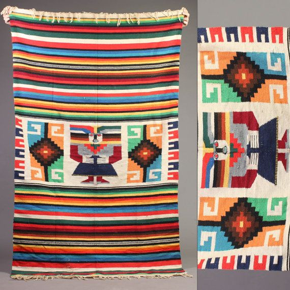 Mexican Aztec Tribal Traditional Patterns Large Fridge Magnet