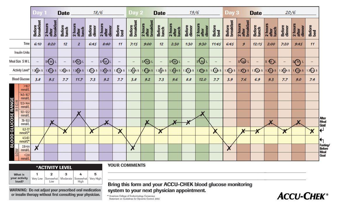 accu-chek 360 view 3-day profiling tool