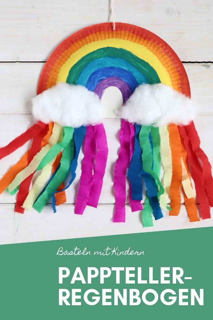 DIY: Pappteller-Regenbogen basteln - Lavendelblog