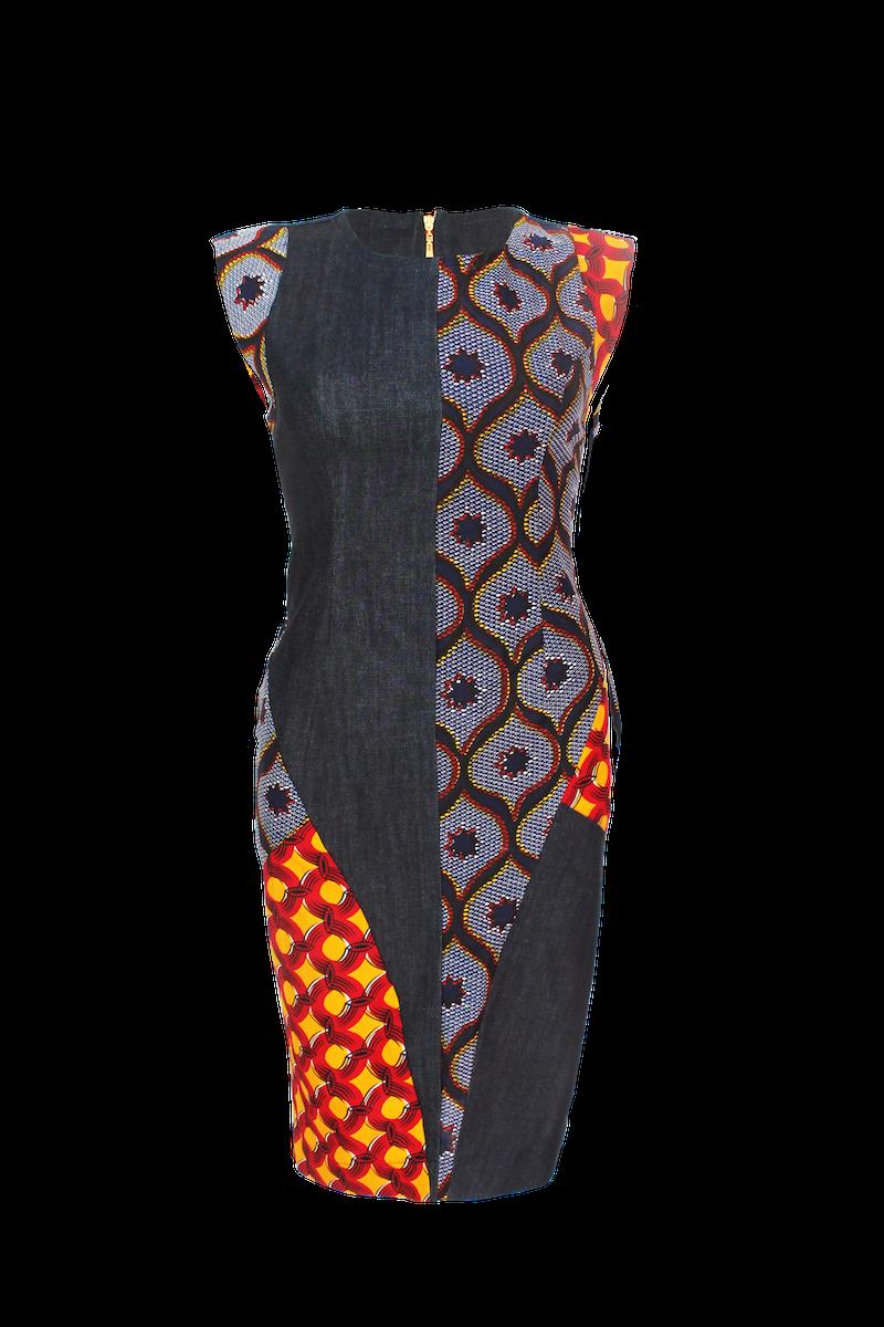 Les robes droites en pagne