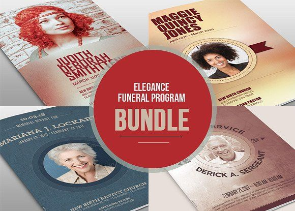 Remembrance Funeral Program Bundle @creativework247   Brochure ...