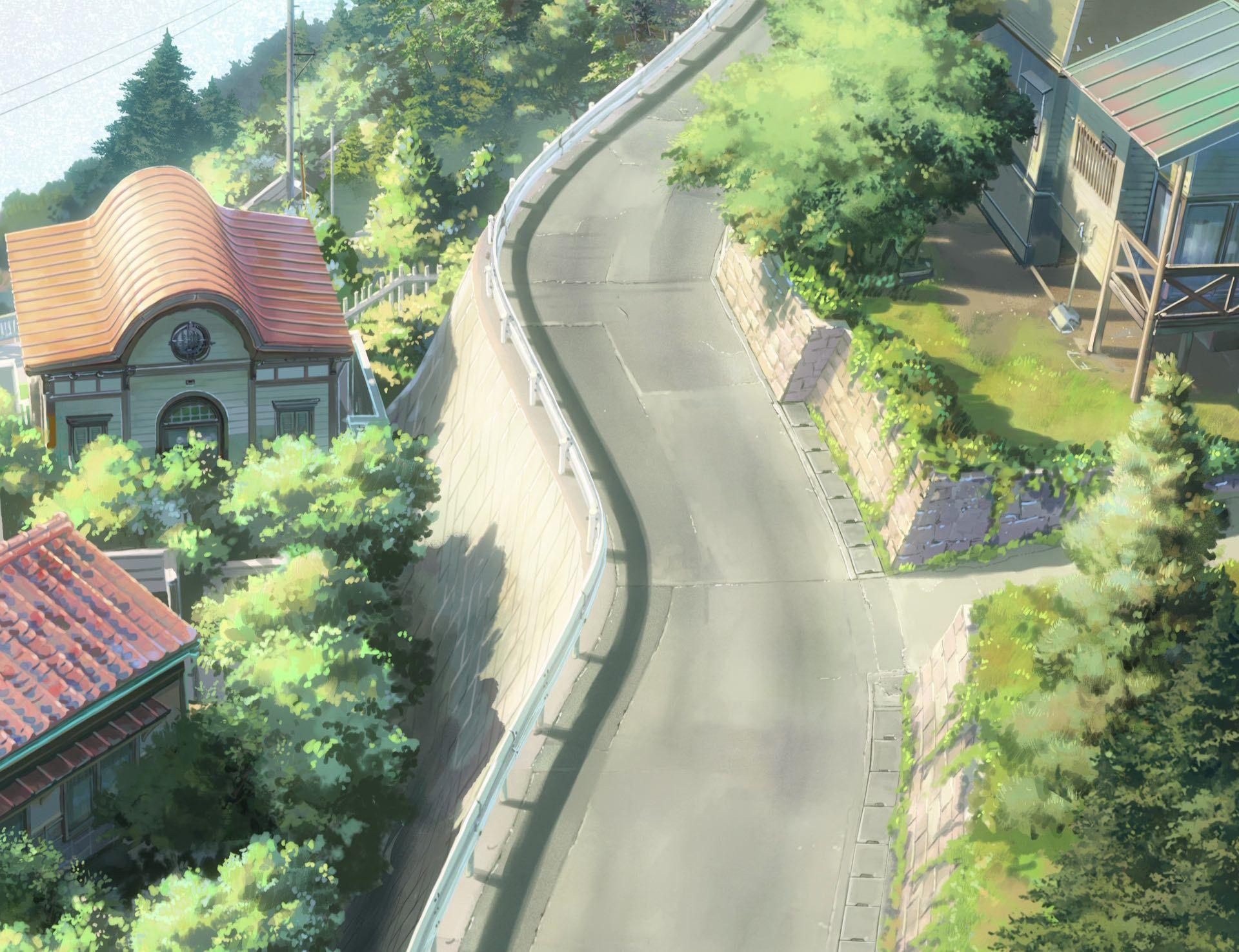 Pin by Jie Zhou on 綠の少女 Kimi no na wa, Anime scenery