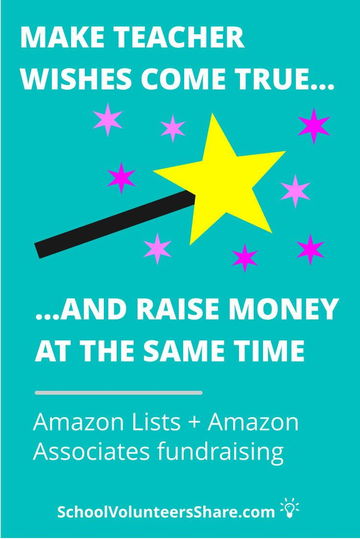 Amazon fundraising with lists are a win win for parents